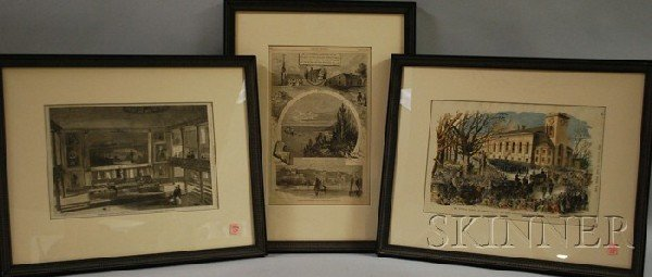 10: Three Harper's Weekly Illustration Views of Boston,