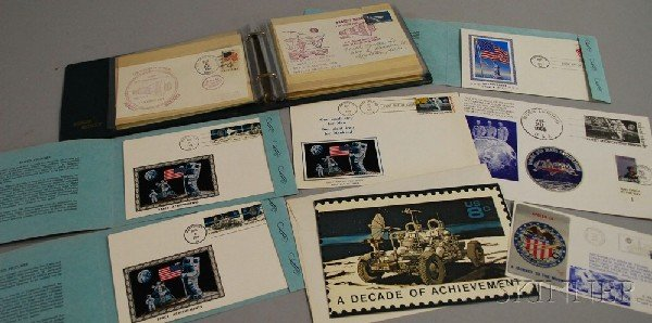 11: Collection of U.S. Space Program Stamped Covers, in