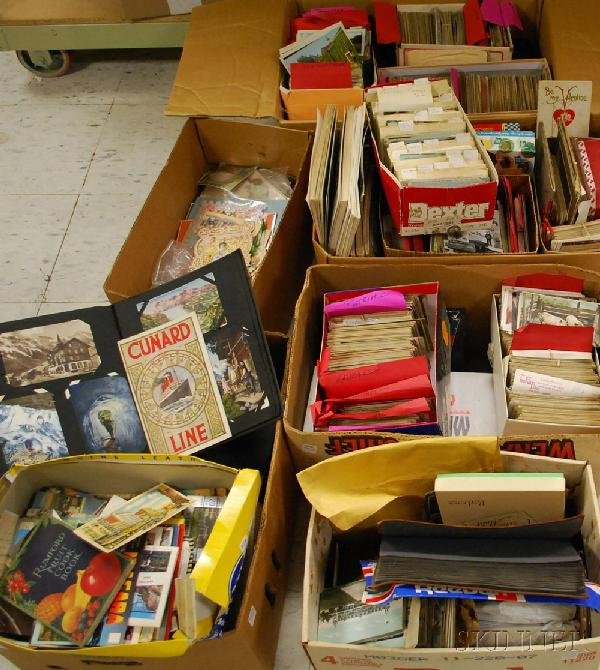 17: Large Collection of Assorted Postcards, most early