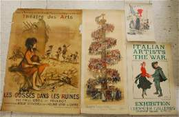 118: Four British and French WWI Era Lithograph Posters