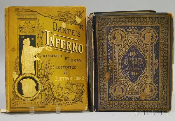 120: Two Gustave Dore Illustrated Books, Don Quixote an