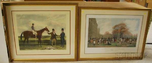 518: Two Large Framed British 19th-century Hand-colored