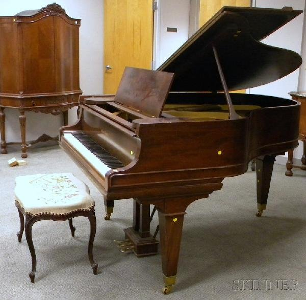 520: Mason & Hamlin Mahogany Baby Grand Piano, Boston,