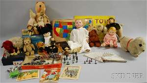931 Group of Assorted Vintage Stuffed Animals Games