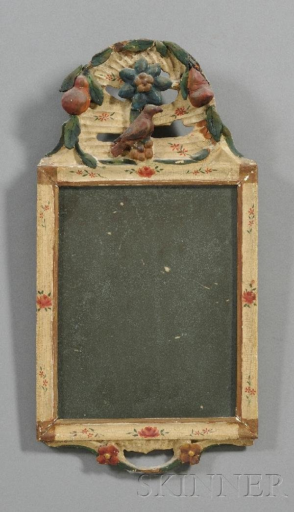 2: Carved Gesso Polychrome Mirror, Northern Europe, lat