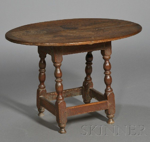 5: Small Maple and Pine Table, probably Massachusetts,