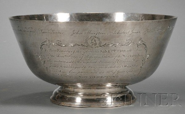 51: Reproduction Paul Revere Sterling Silver Punch Bowl