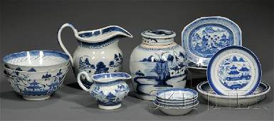 90: Fourteen Canton Pattern and Blue and White Chinese