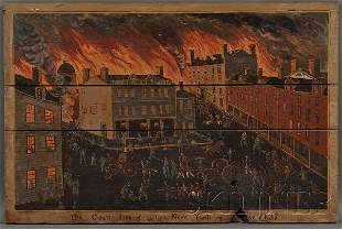 549: American School, 19th Century The Great Fire of Ut