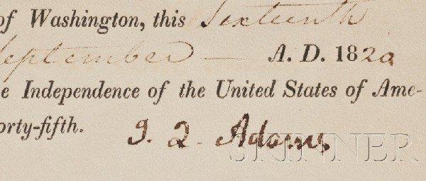 4: Adams, John Quincy (1767-1848), Signed document, Sep