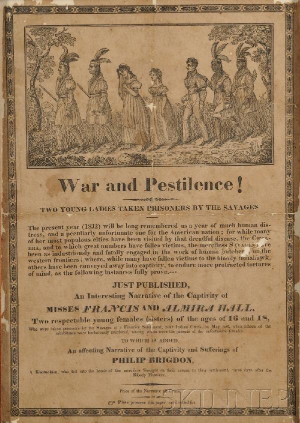 5: (American Indian), Broadside entitled War and Pestil