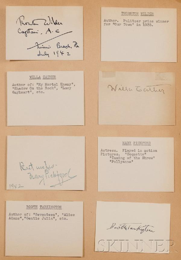 7: (Autograph Album, 20th century), Bound scrapbook con