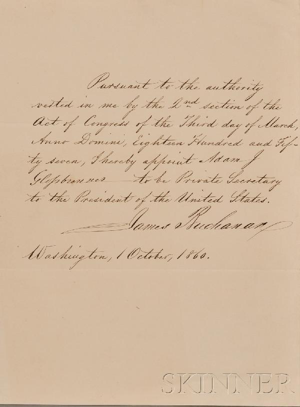 11: (Buchanan, James, 1791-1868) and Glossbrenner, Adam