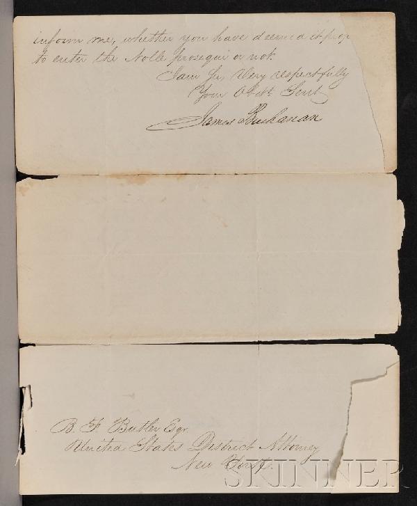 12: Buchanan, James (1791-1868), Two signed autograph d