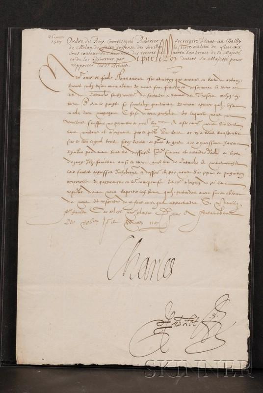 15: Charles IX, King of France (1550-1574), Manuscript
