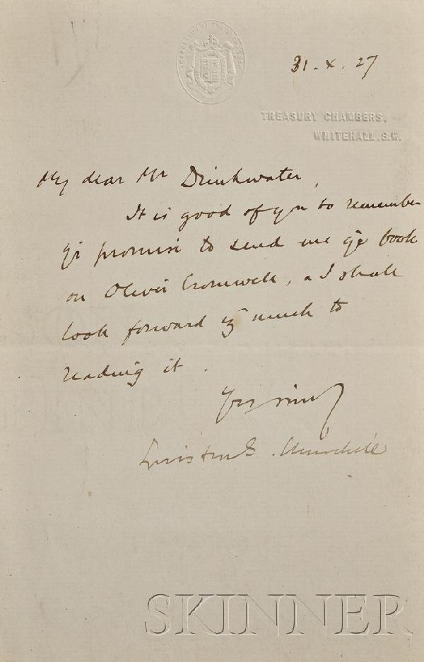 17: Churchill, Sir Winston L.S. (1874-1965), Autograph