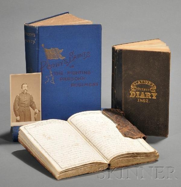 20: (Civil War, Union), Two diaries and a carte de visi
