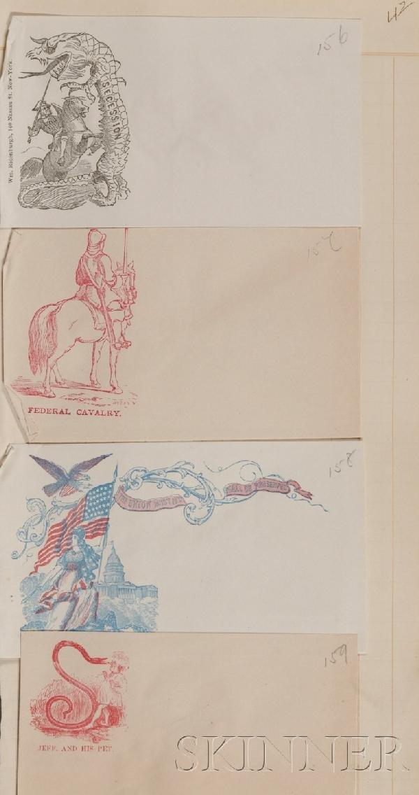 22: (Civil War, Union, Patriotic Covers), Two bound alb