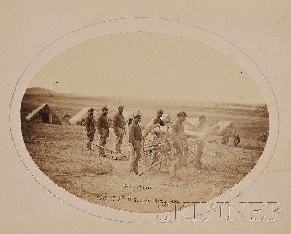 24: (Civil War, Union, Photographs), Four albumen print
