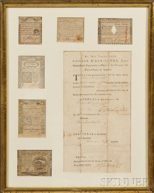 15: Revolutionary War Discharge Document Signed by Geor