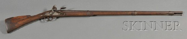 21: French-style Flintlock Musket, America, mid 18th ce
