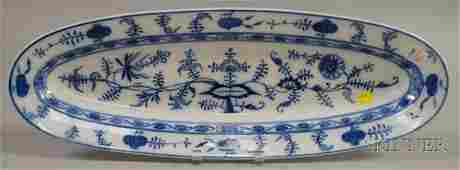 991 Villeroy  Boch Blue Onion Pattern Ceramic Fish Pl