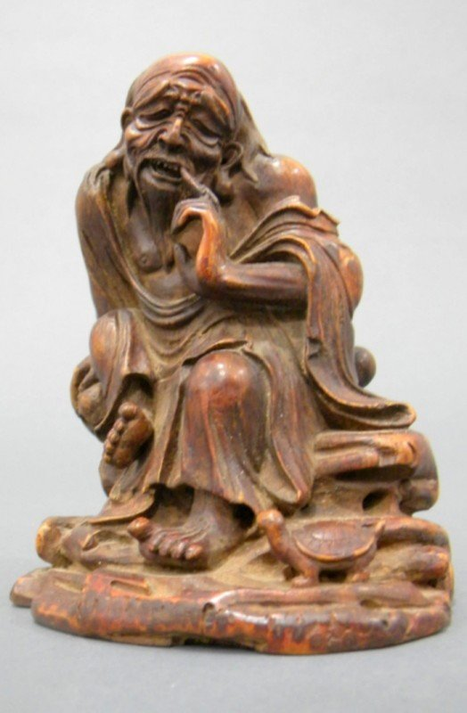 854: Bamboo Carving, China, 19th century, carved with f