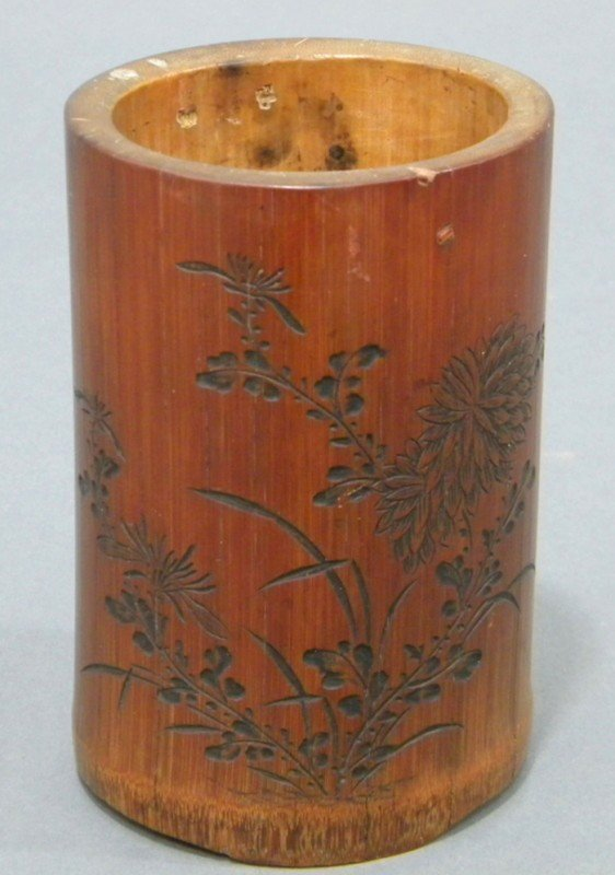 870: Bamboo Brush Pot, China, Republican period, of cyl