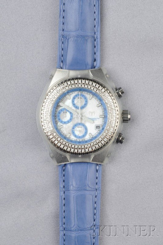 2: Stainless Steel and Diamond Wristwatch, Technomarine