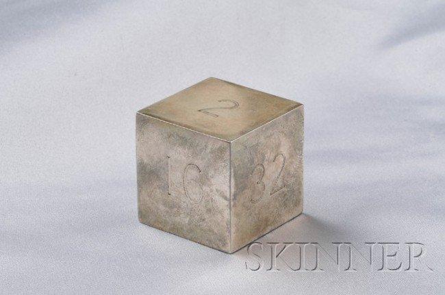 18: Sterling Silver Backgammon Doubling Cube, Tiffany &