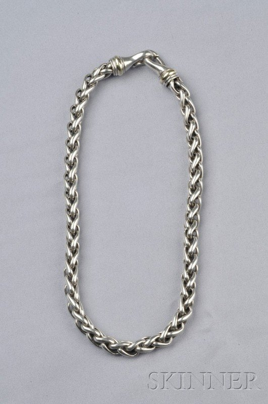 20: Sterling and 14kt Gold Chain, David Yurman, compose