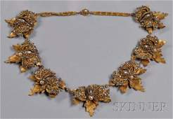 45 Rare Prototype Leaf and Butterfly Festoon Necklace