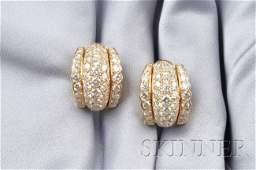 772 18kt Gold and Diamond Earclips Heyman Brothers e