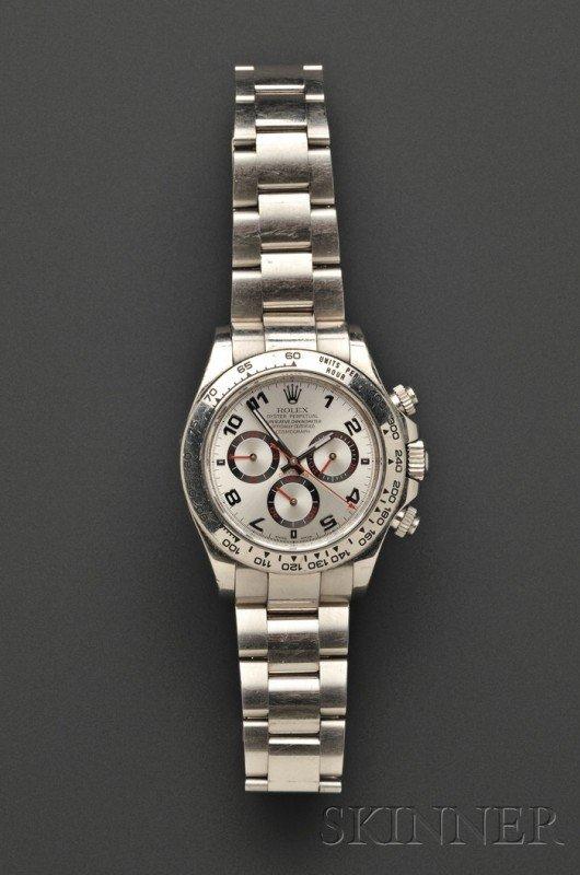 "847: 18kt White Gold ""Daytona Cosmograph"" Wristwatch, R"