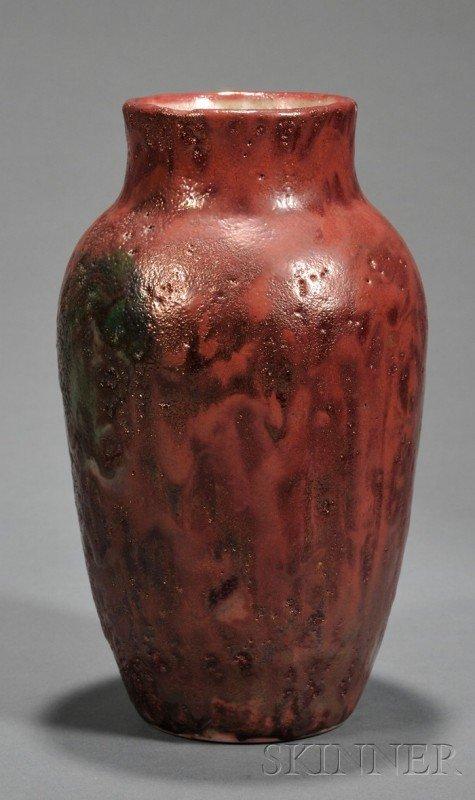 1: Dedham Pottery Sang de Boeuf Vase Experimental glaze