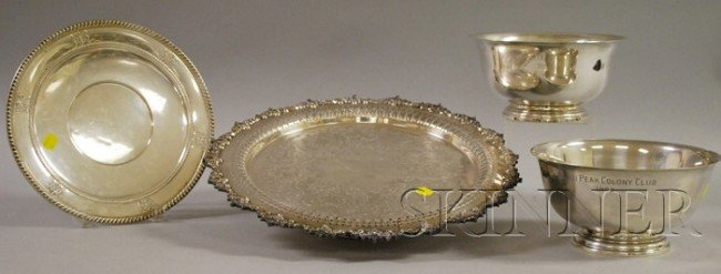 3: Group of Silver and Silver-Plated Serving Items, inc