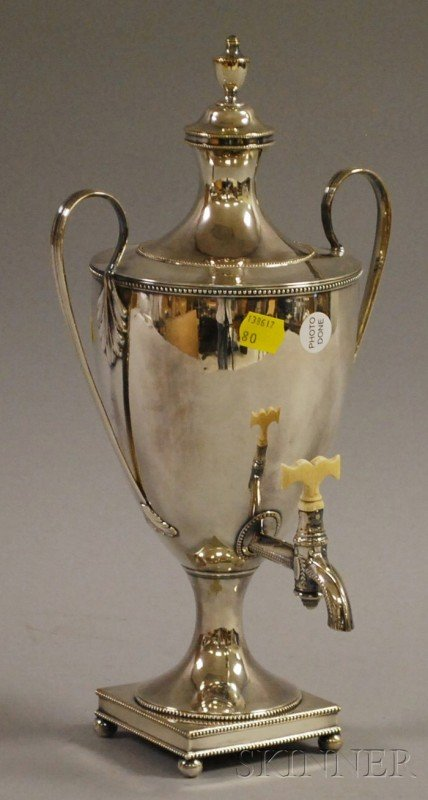 5: Georgian-style Silver-Plated Hot Water Urn, with ivo