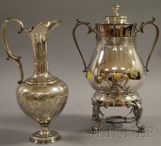 8: Redfield & Rice Silver-Plated Hot Water Kettle on St
