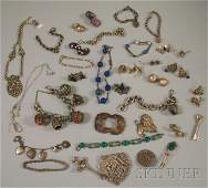 205: Group of Mostly Sterling Silver Jewelry, including