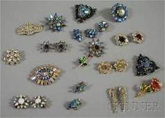 221 Small Group of Signed Costume Jewelry including a