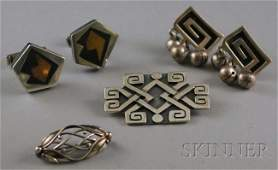 261: Small Group of Sterling Silver Jewelry, including