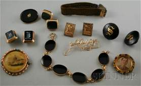 323 Small Group of Victorian and Mourning Jewelry inc