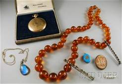 401 Small Group of Assorted Jewelry including a Walth