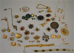 451: Group of Mostly Victorian Jewelry, including garne