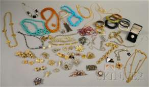 712: Group of Costume Jewelry, including designer and s