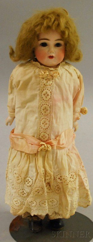 1002: Kestner Bisque Shoulder Head Doll, impressed 154