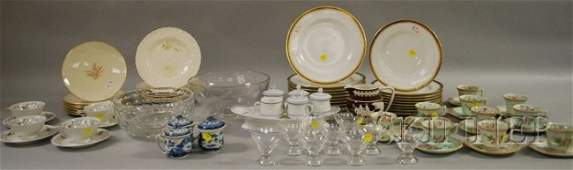 1802: Lot of Assorted China and Glass, including two se