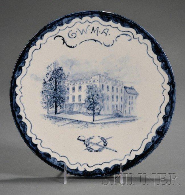 1: Volkmar Stoneware Dish, New York, late 19th century,