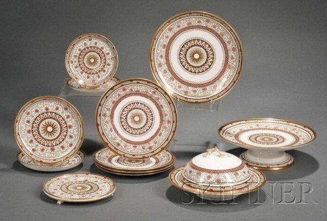 16: Minton Porcelain Partial Breakfast Set, England, c.