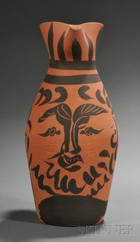 89: Picasso Madoura Pottery Redware Jug, France, mid 20